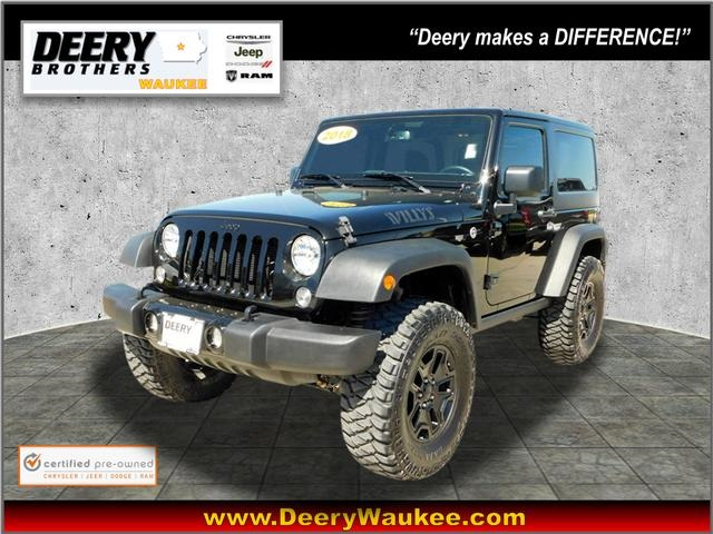 Pre-Owned 2018 Jeep Wrangler JK Willys Wheeler